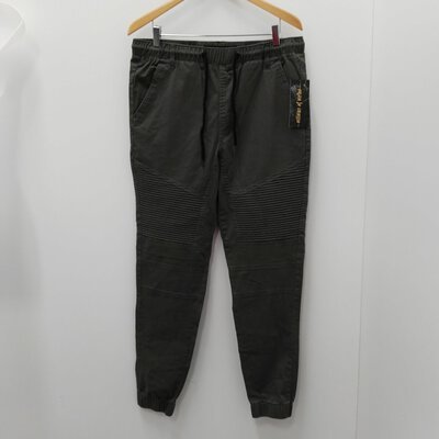 BNWT VILLAINS OF VIRTUE Men's Khaki Drawstring Pants Size 34