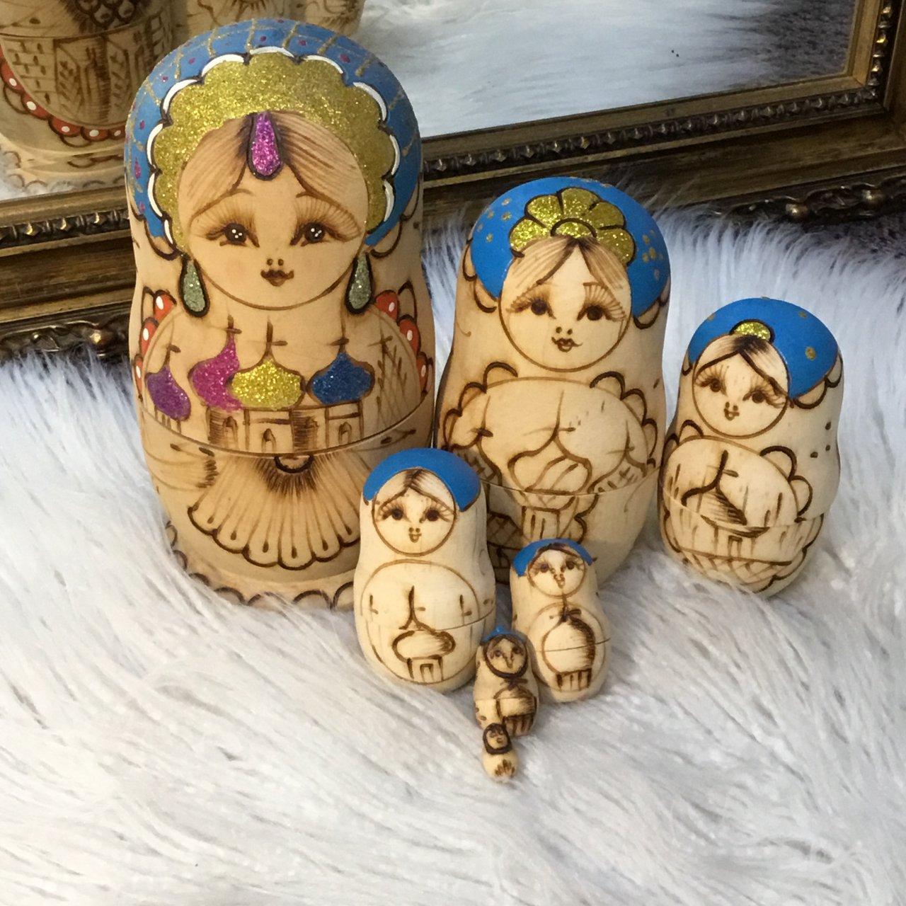 Babushka Nesting Dolls 7 Pieces