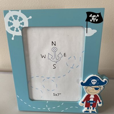 5x7 Pirate Picture Frame Blue