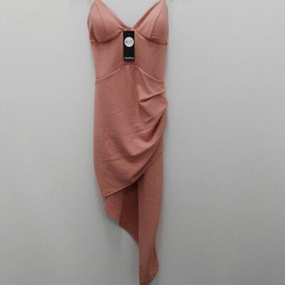 BNWT BOO HOO Womens Pink Dress Size 14