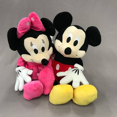 SEGA Mickey & Minnie Plush Soft Toy Stuffed  48 cm.