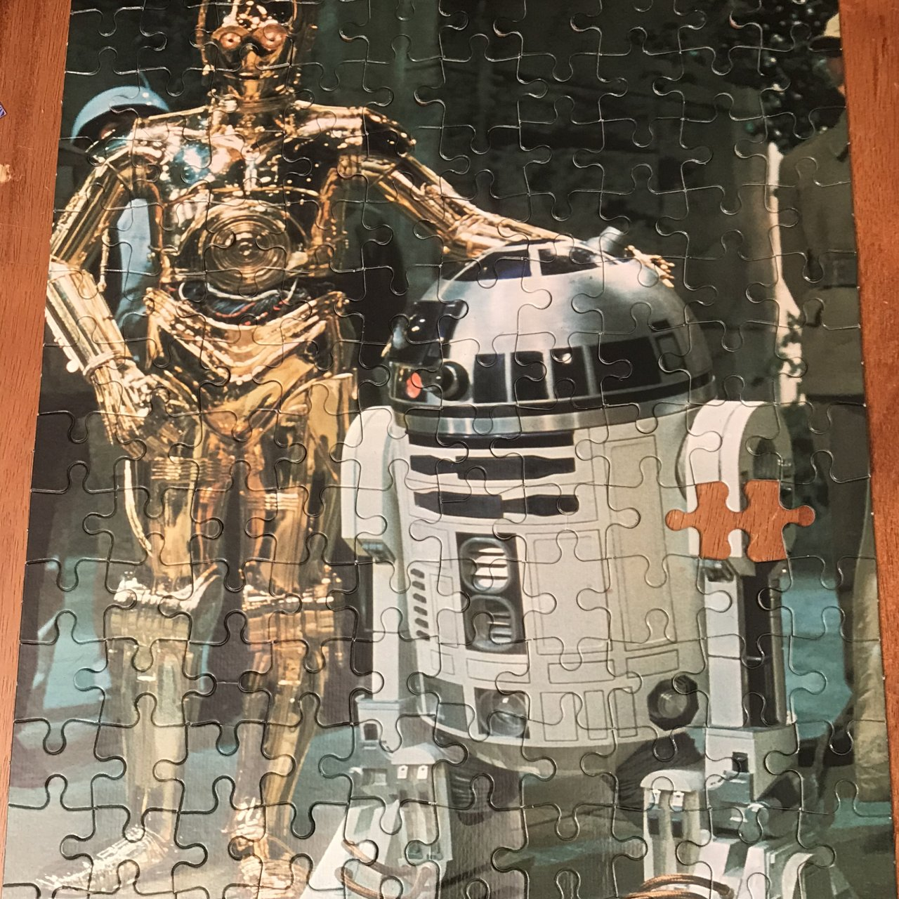 2 x Vintage STAR WARS 1977 R2-D2  & C-3PO (ARTOO-DETOO/SEE-THREE PIO) and Han & Chewbacca Jigsaw Puzzles 140 Piece Puzzles - See Description