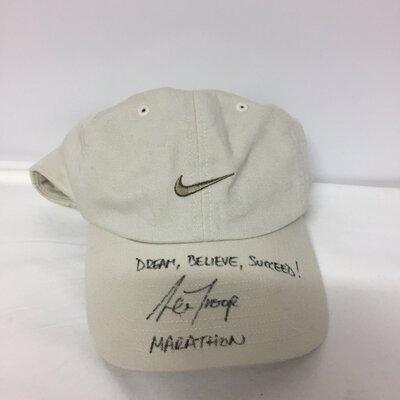 Nike Hat Signed by Marathon Runner Lee Troope