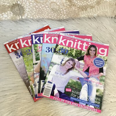 Creative Knitting Pattern Books x 5